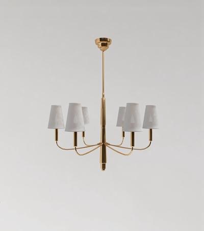 现代轻奢金属玻璃吊灯组合3D模型【ID:57239186】