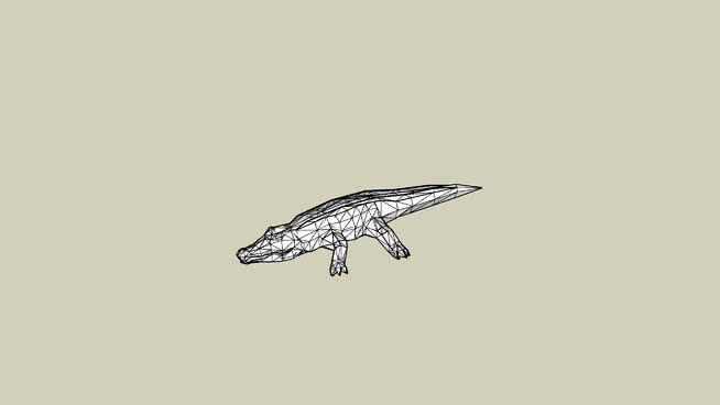 尼罗河鳄鱼SU模型【ID:739772591】