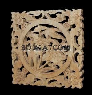 美观的中式木雕3D模型【ID:5768】