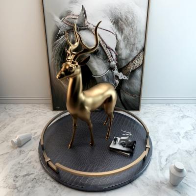 现代金属麋鹿3D模型【ID:328440808】