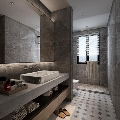 现代卫生间浴室3D模型【ID:128399675】