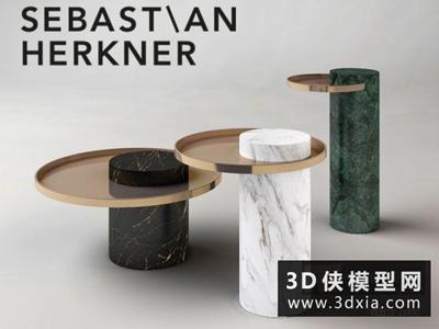 現代茶幾國外3D模型【ID:829449109】