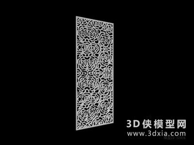 雕花隔斷國外3D模型【ID:929796559】