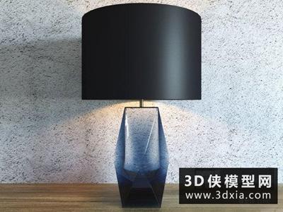 现代台灯国外3D模型【ID:829442912】