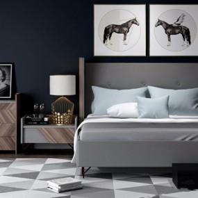 现代床具3D模型【ID:928174375】