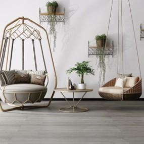 现代吊椅3D模型【ID:231428477】