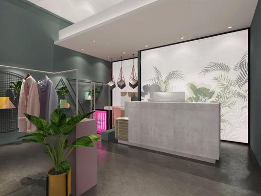 现代服装店3D模型【ID:528018489】