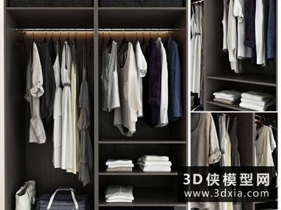 衣服模型組合國外3D模型【ID:929390626】