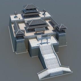 中式古建筑外观3D模型【ID:528453666】