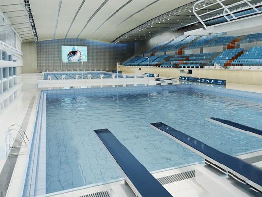 游泳馆3D模型【ID:320602809】