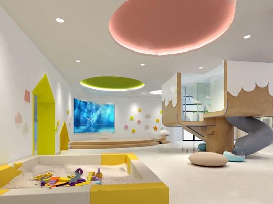现代幼儿园3D模型【ID:124897201】