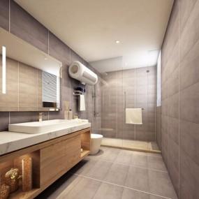 现代别墅卫生间3D模型【ID:528014466】