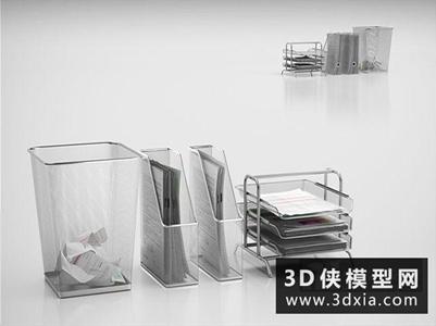 垃圾篓国外3D模型【ID:929824060】