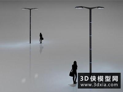 路灯国外3D模型【ID:929820222】