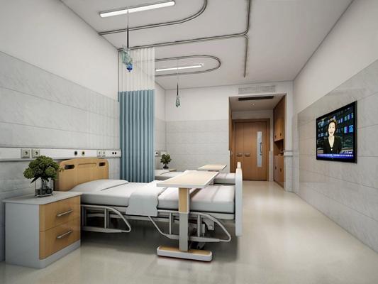 现代病房3D模型【ID:928190690】