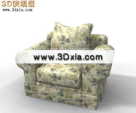 现代家具-舒适的单人沙发3D模型【ID:5937】