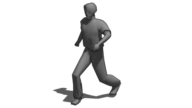 三維的跑步的人SU模型【ID:139780379】