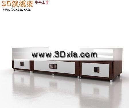 现代精选电视柜3D模型【ID:5963】