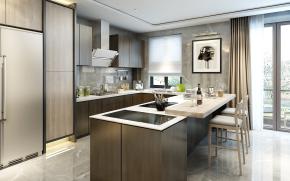 现代厨房厨具吧台组合3D模型【ID:927825585】