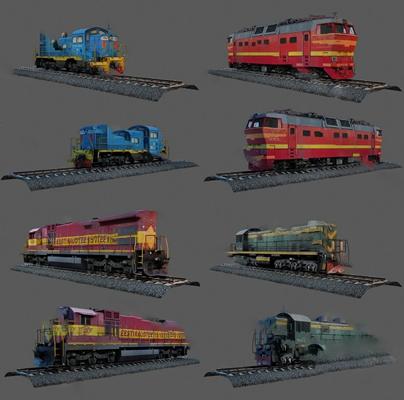 火车3D模型【ID:120600695】