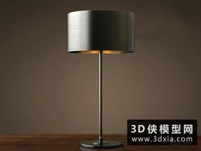 现代风格台灯国外3D模型【ID:829692910】
