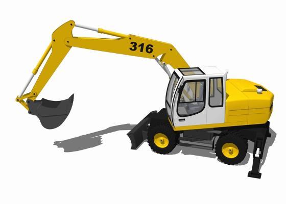 挖掘機SU模型【ID:846373184】