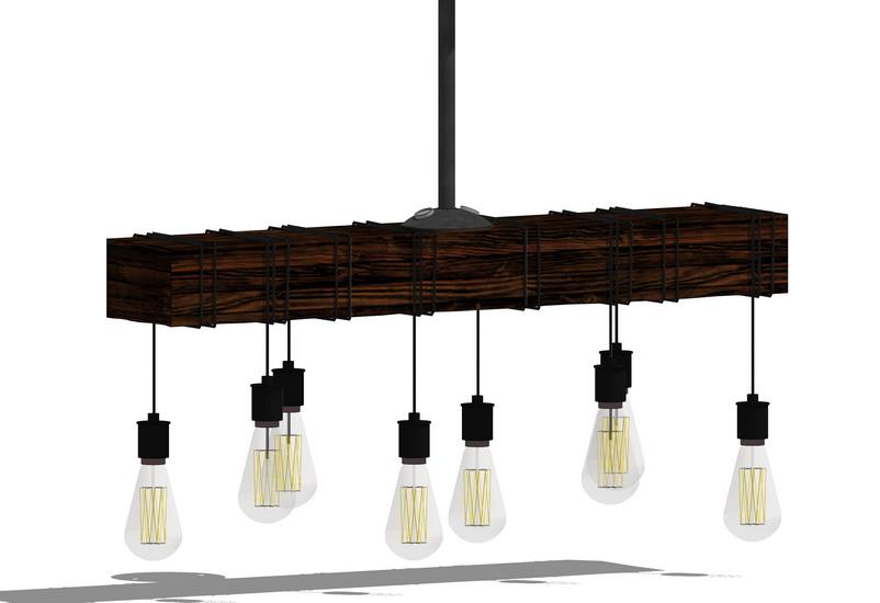 燈泡吊燈SU模型【ID:336389802】