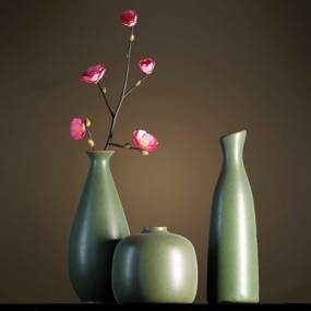 新中式花瓶3D模型【ID:928181132】