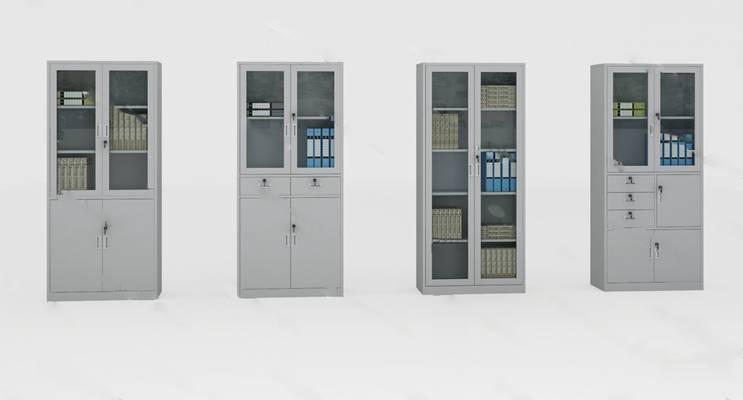 现代文件柜3D模型下载【ID:919437589】