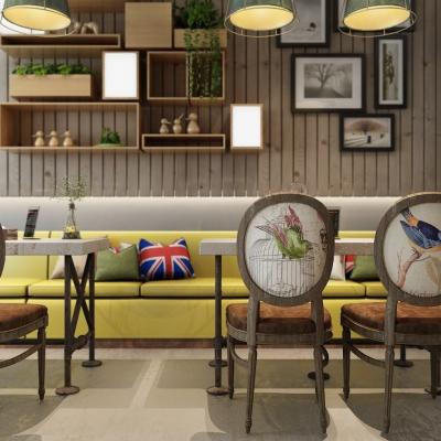 工业风咖啡厅3D模型【ID:327792670】