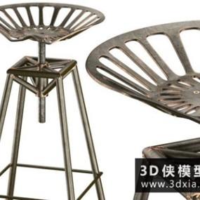 金属吧椅国外3D模型【ID:729517867】