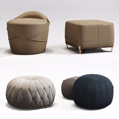 現代沙發凳3D模型【ID:427986614】