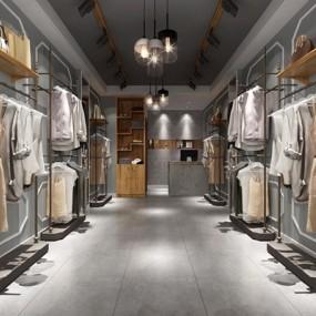 北欧服装店3D模型【ID:528021431】