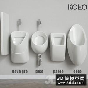 小便斗國外3D模型【ID:929313977】
