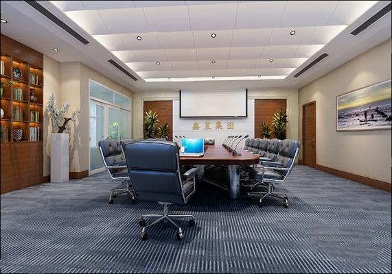 现代会议室3D模型【ID:720614607】