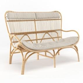 现代户外沙发藤椅3D模型【ID:328440377】