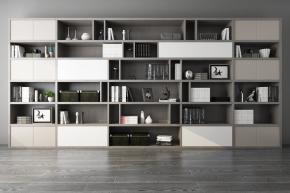 现代书柜书籍摆件组合3D模型【ID:927819535】