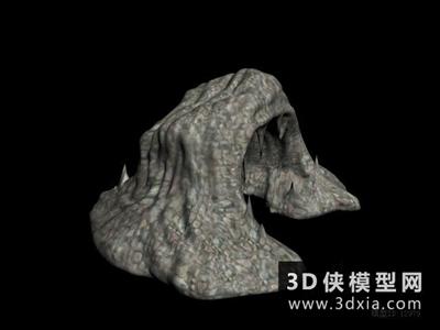 假山國外3D模型【ID:329796366】