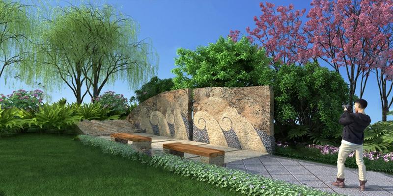 现代园林景观3D模型【ID:824894498】