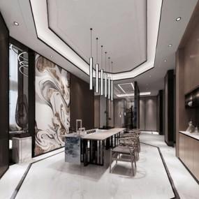 新中式泡茶室3D模型【ID:327916748】