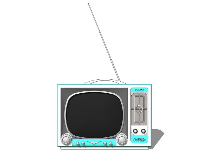 舊電視機SU模型【ID:636389956】