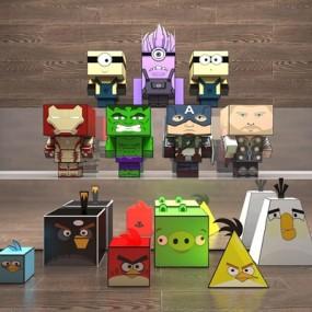 方盒子玩具装饰摆件3D模型【ID:528285293】