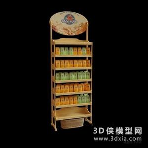 超市货架国外3D模型【ID:229847336】