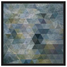 蓝色框架几何III 画 相框 监视器 显示器 电视机 【ID:739790903】