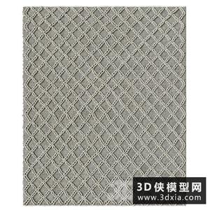 现代编制地毯国外3D模型【ID:329316853】