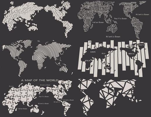 世界地图背景墙装饰3D模型【ID:127872117】