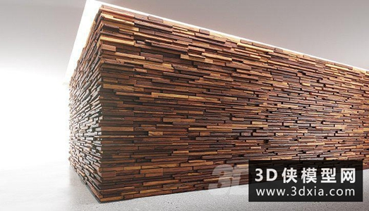 木制面板国外3D模型【ID:929331623】