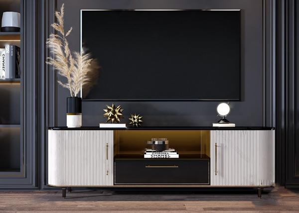 現代輕奢電視柜組合3D模型【ID:946259967】
