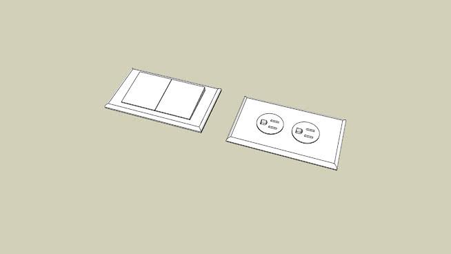 壁式插座SU模型【ID:537986483】