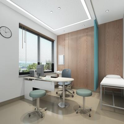 現代醫院門診室3D模型【ID:928560640】